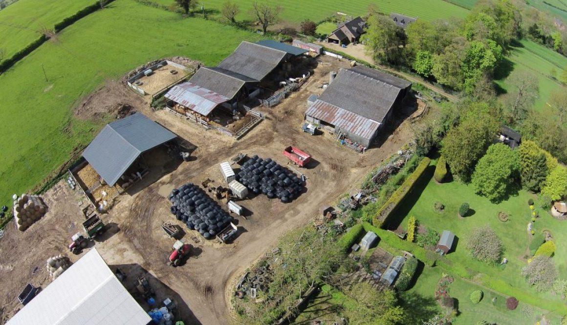 Farm Yard Aerial Photography