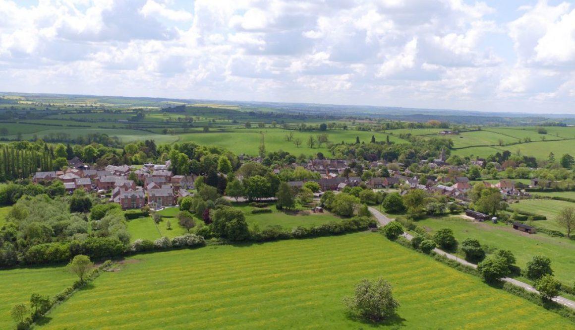 Spring Aerial Landscape