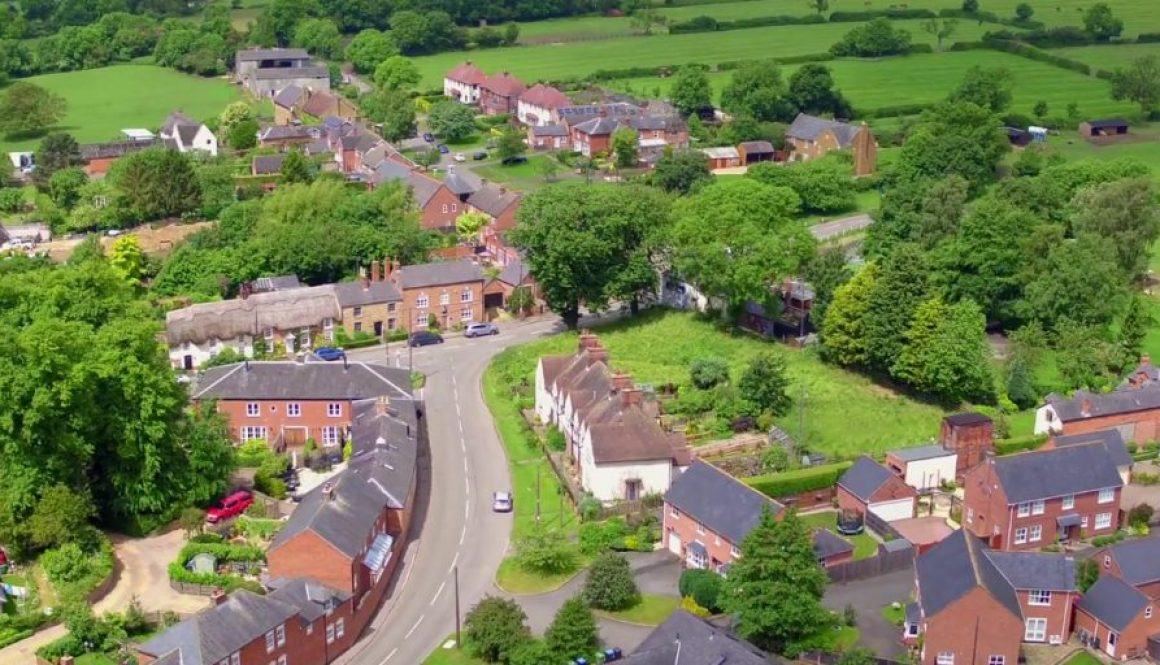 Hallaton Village Aerial Scene
