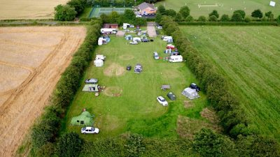 Rural Relaxing Campsite Field
